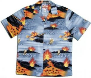 Hawaii Volcano Hawaiian Shirts   Mens Hawaiian Shirts   Aloha Shirt   Hawaiian at  Men's Clothing store Button Down Shirts