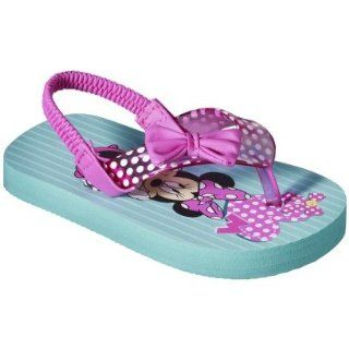 Minnie Mouse Bow tique Toddler Girl's Minnie Mouse Flip Flop   Multicolor Sandals (Small(5/6)) Health & Personal Care