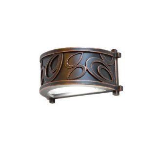Asiana One Light Indoor/Outdoor Wall Sconce in Antique Copper   Wall Porch Lights