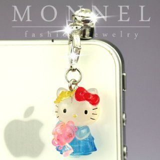 Ip353 Cute Hello Kitty Anti Dust Plug Cover Charm for Iphone 4 4s Cell Phones & Accessories