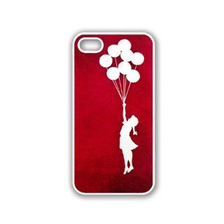 Bansky Ballon Girl iPhone 5 Case White   Fits iPhone 5 Cell Phones & Accessories