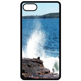 Crashing Waves   Image Black Apple Iphone 5 Cell Phone Case   Cover Cell Phones & Accessories