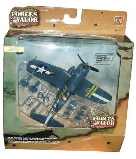 Forces of Valor 172 Scale Die Cast Military Combat Proven Machines Battle Hardened Plane   U.S. F4U 1D Corsair VMF 351 Pacific 1945 Toys & Games