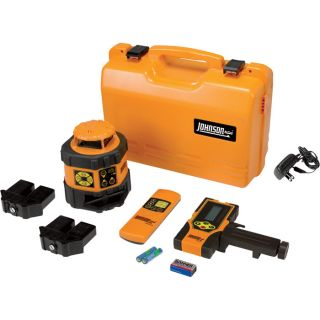Johnson Level & Tool Heavy-Duty Electronic Self-Leveling Rotary Laser Level with Beam Shield Technology, Model# 40-6537  Laser Levels