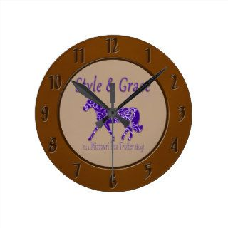 Style and Grace Missouri Fox Trotter Thing Wall Clocks