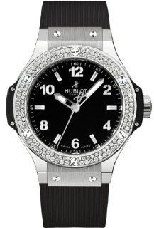 Hublot Big Bang Black Dial Diamond Black Rubber Ladies Watch 361.SX.1270.RX.1104 at  Women's Watch store.