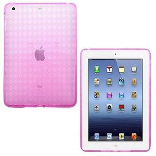 CoverON(TM) Flexible HOT PINK TPU Soft Cover Case with CHECKERED PLAID Design APPLE IPAD MINI [WCD363] Cell Phones & Accessories