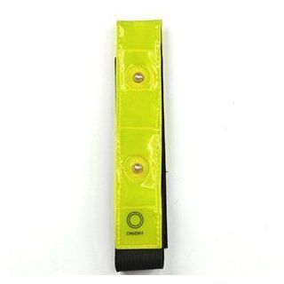 KLOUD City � Yellow velcro reflective & flashing lights armband band tape strap for cycling bike bicycle  Cycling Safety Reflectors  Sports & Outdoors