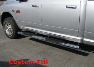 "Premium Custom Fit 09 15 Ram 1500/10 14 2500/3500 Crew Cab Stainless 6"" Extra Wide Side Step Nerf Bars Running Boards(2pcs with Mounting Bracket Kit) Automotive"