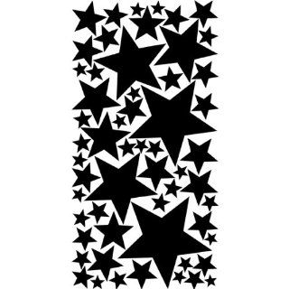 Colorful Stars Peel & Stick Wall Stickers / Decals / Appliques, Black   Decorative Wall Appliques