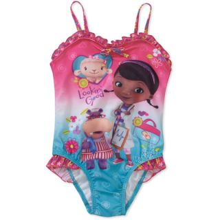 Disney Doc McStuffins Baby Toddler Girl Bow Swimsuit Baby Clothing