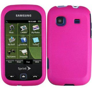 For Sprint Samsung Trender M380 Accessory   Rubber Pink Case Proctor Cover Cell Phones & Accessories
