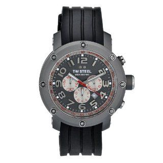 TW Steel Men's TW613 Quartz Grey Chronograph Dial Stainless Steel Case Titanium Steel Case Watch TW Steel Watches