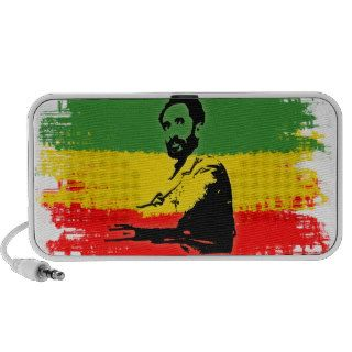 Haile Selassie with Ethiopian Flag background Notebook Speaker