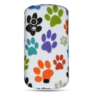 VMG 3 ITEM COMBO Samsung Stratosphere i405 Case   White Rainbow Paw Print Flower Design Hard 2 Pc Plastic Snap On Case Cover + LCD Clear Screen Protector + Premium Car Charger for Samsung Stratosphere i405 Verizon Wireless Cell Phone [3 ITEM COMBO BUNDLE S
