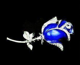 8GB Cubic Stone Beautiful Blue Crystal Rose Style USB Flash Drive with Necklace Computers & Accessories