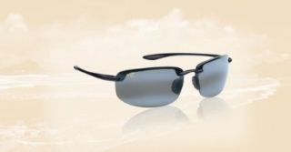 Maui Jim Ho'okipa 407, 407 02 Gloss Black / Neutral Grey Shoes