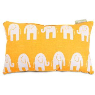 Majestic Home Goods Ellie Pillow, Small, Yellow   Throw Pillows
