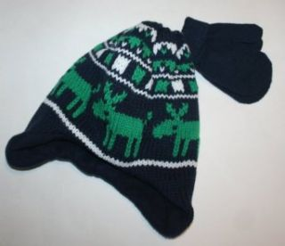 Carter's Baby/Toddler Reindeer Hat & Glove Cold Weather Set (2T 4T) Clothing