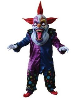 Adult Costume Evil Clown Red Blue Oversized Halloween Costume Clothing