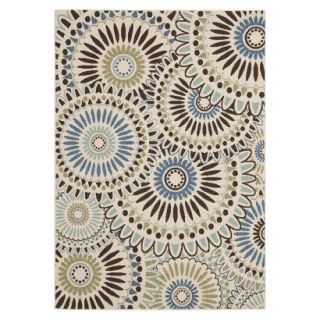 Safavieh Aegina Indoor/Outdoor Area Rug   Cream/Blue (8x112)