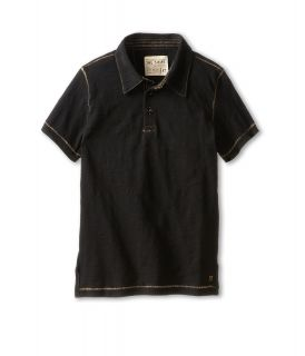 Joes Jeans Kids S/S Polo Shirt Boys Short Sleeve Button Up (Black)