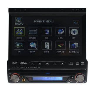"Tyso 7"" In Dash Car DVD Player GPS With Digital TV+Motorized Touch Screen/GPS Bluetooth IPod Function/DVD/CD/RDS Supported 2403GD  In Dash Vehicle Gps Units"