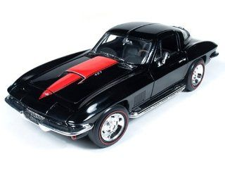 1967 Chevrolet Corvette Sting Ray L88 427 Tuxedo Black 1/18 by Autoworld AMM1004 Toys & Games