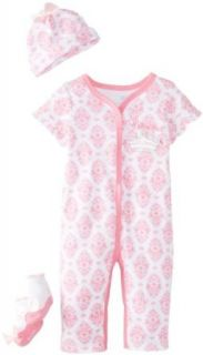 Vitamins Baby Baby Girls Newborn Little Princess 3 Pack Coverall Set Clothing