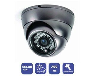 "Color Vandalpoof IR CCTV Dome Camera 1/3"" Sony CCD 420TVL 3.6mm  Camera & Photo"