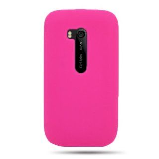 CoverON Soft Silicone HOT PINK Skin Cover Case for NOKIA 822 LUMIA / ATLAS VERIZON [WCB421] Cell Phones & Accessories