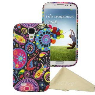 EnGive Abstract Art Painting Skin TPU Soft Cover Case for Samsung Galaxy S4 SIV I9500 with Cleaning Cloth Cell Phones & Accessories