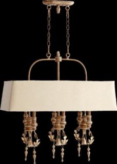 Quorum 6506 6 94 Salento   Six Light Island, French Umber Finish   Chandeliers