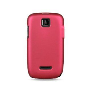 Hot Pink Hard Cover Case for Motorola Theory WX430 Cell Phones & Accessories