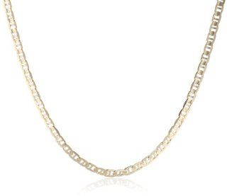 "Men's 14k Yellow Gold 2.3mm Mariner Chain Necklace, 24"" Jewelry"