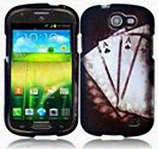 Black White Poker Ace Hard Cover Case for Samsung Galaxy Express SGH I437 Cell Phones & Accessories