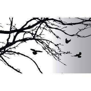 Innovative Stencils 1130 100 Inch X 44 Inch Tree Top Branches Wall Decal Vinyl Sticker   Decorative Wall Appliques