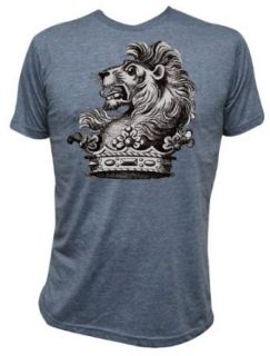 Mens Annex Clothing Lion Crown Victorian Art Design Print T Shirt Blue at  Men�s Clothing store
