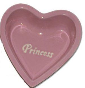"Princess of Pets Pink Heart Shaped Dog/Cat Bowl   6.25"" by Petrageous Designs  Food Bowls  Kitchen & Dining"