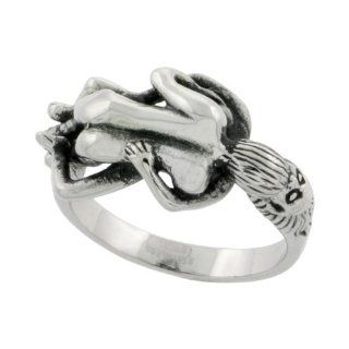 Surgical Steel Biker Ring Biker Love Making Couple 9/16 inch wide, sizes 9   15 Jewelry