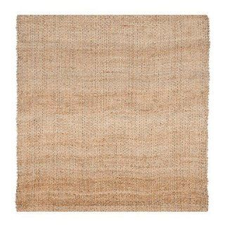 Safavieh NF452A Natural Fibers Collection Sisal Square Area Rug, 6 Feet, Natural