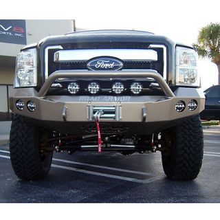 Road Armor Stealth Base Front Bumper With Pre Runner Guard 2011 Ford Super Duty 431324