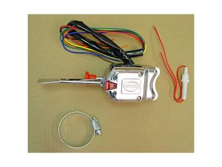 Omix ada This chrome replacement turn signal switch kit from Omix ADA includes the wiring harness and built in flasher. Fits 41 71 Ford/Willys/Jeep models. 17232.01