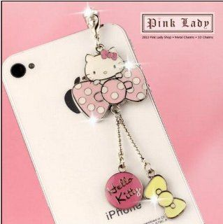 ip476 Cute Hello Kitty Dust Proof Phone Plug Cover Charm For iPhone Smart Phone Cell Phones & Accessories