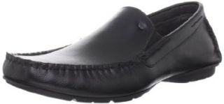 Steve Madden Men's Nickson Slip On,Black Leather,7.5 M US Shoes