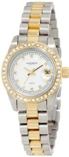 Akribos XXIV Women's AK489TTG Diamond Quartz Two Tone Gold Tone Stainless Steel Bracelet Watch Watches