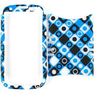 Cell Armor I747 RSNAP TE492 H Rocker Snap On Case for Samsung Galaxy S3 I747   Retail Packaging   Trans. Black/Blue/White Dots in Squares Cell Phones & Accessories