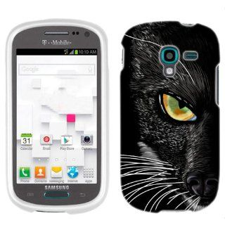 Samsung Galaxy Exhibit Black Cat Face Phone Case Cover Cell Phones & Accessories