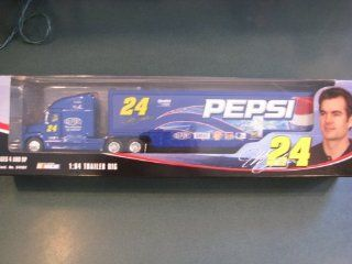 Jeff Gordon #24 Pepsi GMAC Dupont Lays Hauler Tractor Trailer Transporter Semi Rig Truck 1/64 Scale Winners Circle 2004 Edition Toys & Games