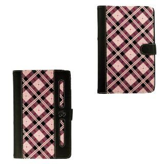 Unique and Professional 7 inch Pastel Pink and Black Plaid Portfolio case to fit your 7 inch Kobo Arc, plus it comes with two SD card holders and a strap to close portfolio. Computers & Accessories